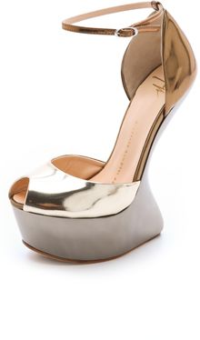 Giuseppe Zanotti Sculptured Wedge Pumps - Lyst