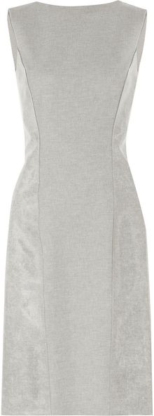 Philosophy di Alberta Ferretti Coated Wool Blend Dress - Lyst