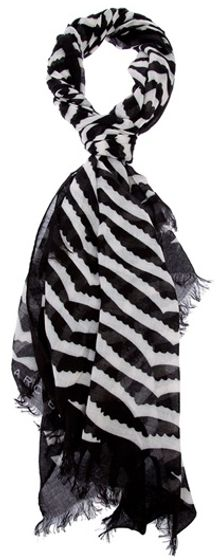 Marc By Marc Jacobs Scalloped Stripe Scarf - Lyst