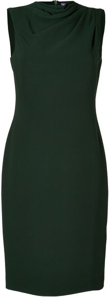 Ralph Lauren Collection Racing Green Silk Kristen Dress - Lyst