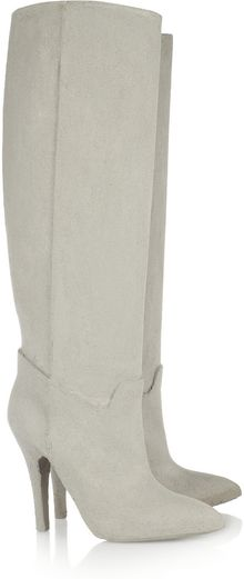 Maison Martin Margiela Cement-Effect Coated Knee Boots - Lyst