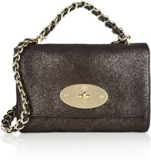 Mulberry Lily Furprint Brushedleather Shoulder Bag - Lyst