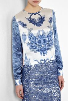 Preen Kala China Print Silk Top - Lyst
