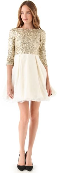 Alice + Olivia Azala Sequined Dress - Lyst