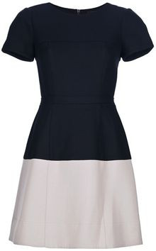 BCBGMAXAZRIA Contrast Skirt Dress - Lyst