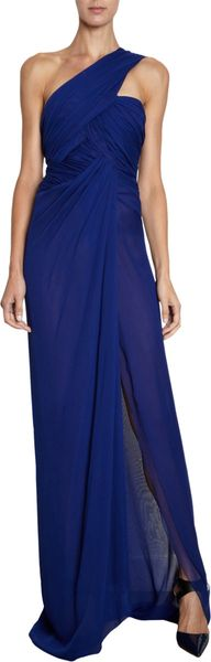 J. Mendel One Shoulder Gown - Lyst