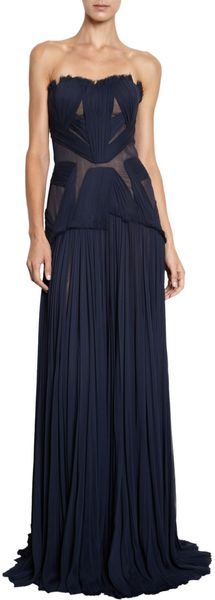 J. Mendel Hand Pleated Gown - Lyst