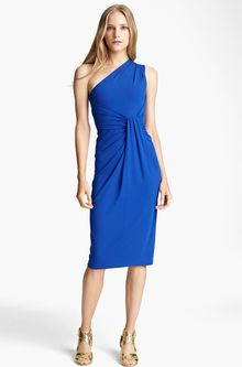 Michael Kors One Shoulder Matte Jersey Sheath Dress - Lyst