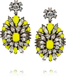 Shourouk Leitmotif Silverplated Swarovski Crystal Earrings - Lyst