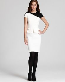 Cynthia Steffe Dress Farrah Color Block Peplum - Lyst