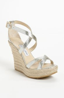 Jimmy Choo Porto Wedge Sandal - Lyst