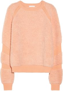Chloé Flocked Wool and Cashmereblend Sweater - Lyst