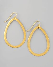 Stephanie Anne Teardrop Hoop Earrings - Lyst