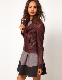 ASOS Collection Asos Leather Biker Jacket - Lyst