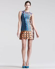 Peter Pilotto Mik Printed Silk Dress - Lyst