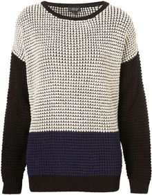 Topshop Colorblock Sweater - Lyst