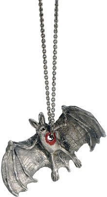 Momocreatura Hole in The Heart Bat Pendant - Lyst