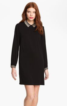 French Connection Anniversary Embellished Collar Shift Dress - Lyst