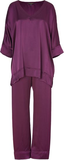 Donna Karan Intimates Grape Glamour Silk Pajamas - Lyst