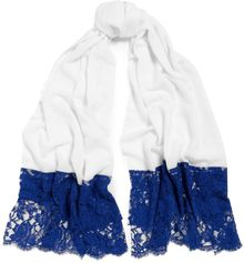 Ahilya Blue Distressed Lace Scarf - Lyst