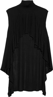 Alexander Wang Ruffled Ribbed Turtleneck Top - Lyst
