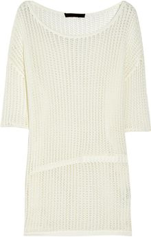 Alexander Wang Openknit Cotton Sweater - Lyst