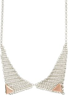 Asos Mesh Chain Tip Necklace - Lyst