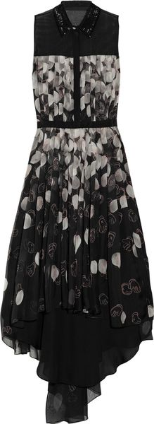 Jason Wu Kaws Printed Silkchiffon Dress - Lyst