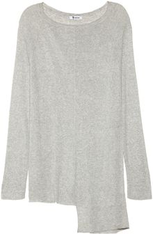 T By Alexander Wang Asymmetric Ribbed Openknit Tunic - Lyst