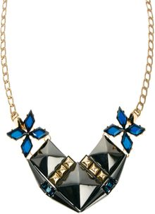 Asos Midnight Stud Necklace - Lyst