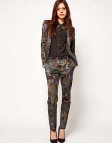 ASOS Collection Premium Floral Printed Trouser - Lyst