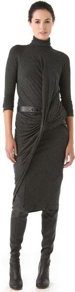 Donna Karan New York Twist Drape Dress - Lyst