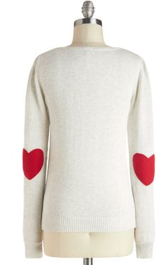 ModCloth Were Young At Heart Sweater - Lyst