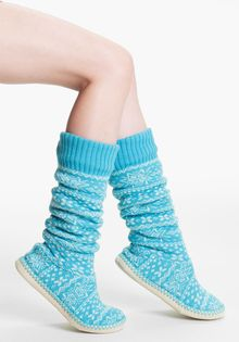 Make + Model Fair Isle Slipper Socks - Lyst
