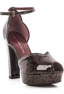 Marc By Marc Jacobs Animal Print Patent Shoes - Lyst