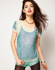 ASOS Collection Asos Top with Hologram Panel Embellishment - Lyst