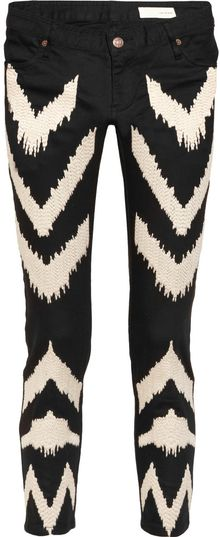 Sass & Bide Full Circle Ikat Embroidered Lowrise Skinny Jeans - Lyst