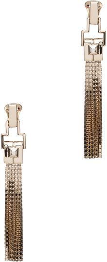 Lanvin Fringe Earrings in Gold - Lyst