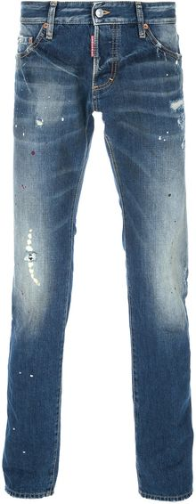 DSquared2 Distressed Skinny Jean - Lyst