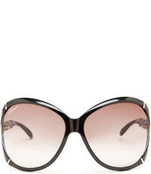 Gucci Shiny Black Sunglasses - Lyst