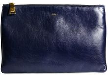Jil Sander Fine Nappa Leather Envelope Clutch - Lyst