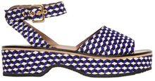 Marni Geometric Print Canvas Wedges - Lyst