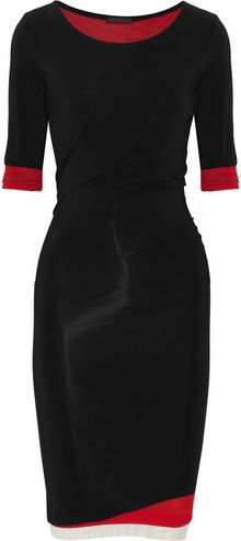 Donna Karan New York Layered Stretch Crepe-jersey Dress - Lyst
