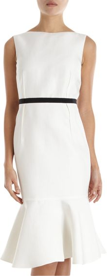 Giambattista Valli Peplum Hem Sheath Dress - Lyst