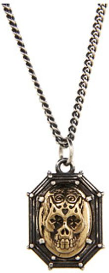 King Baby Studio Industrial Rivet Pendant with Alloy Skull - Lyst