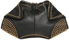 Alexander McQueen Gold Studs Leather Demanta Clutch - Lyst