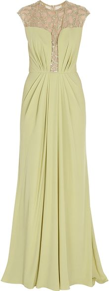Elie Saab Long Silk Gown - Lyst