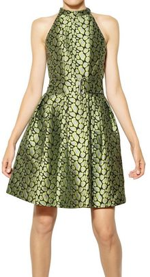 Kenzo Leopard Techno Cotton Jacquard Dress - Lyst