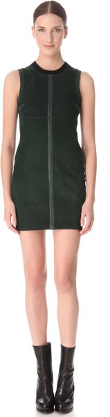 Alexander Wang Wool Suede Sleeveless Dress - Lyst