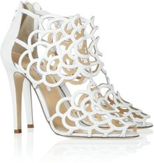 Oscar de la Renta Gladia Cutout Leather Sandals - Lyst